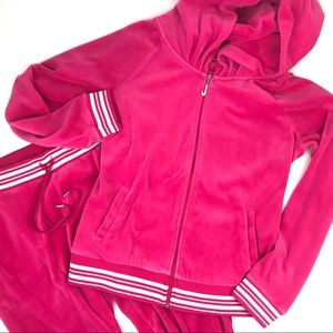 Juicy Couture pink velour tracksuit